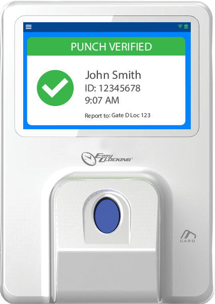 EasyClocking Xenio 700 Fingerprint Clock On Terminal Punch Restriction Feature