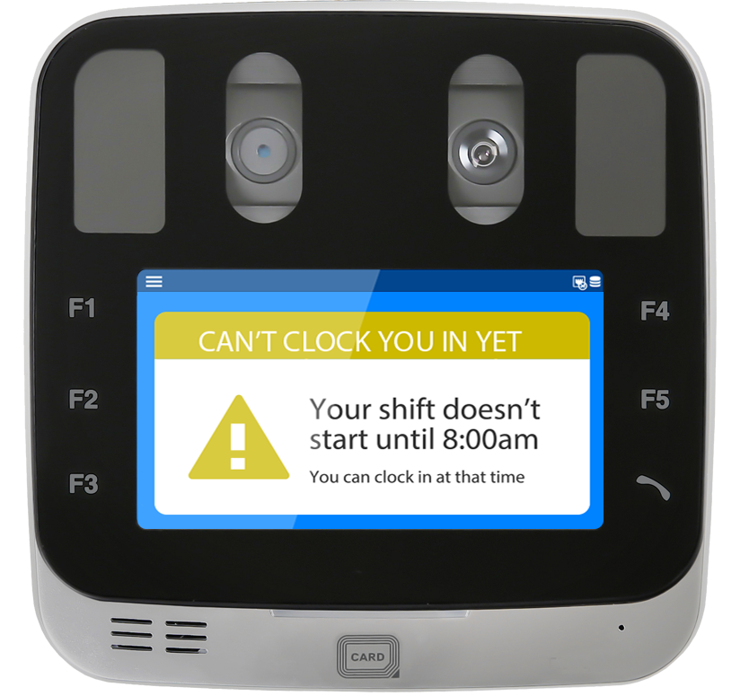 EasyClocking Xenio-i1000 Iris Clock On Terminal Punch Restriction Feature Small