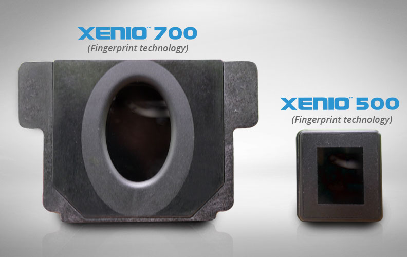 EasyClocking Xenio 500 and 700 Fingerprint Time Clock Scanners Side by Side Comparison
