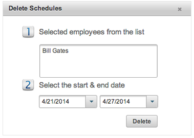 EasyClocking Time & Attendance Software Delete Schedules Prompt Image