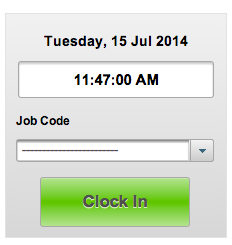 EasyClocking Time & Attendance Software Clock In Button Image