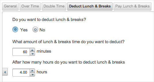 EasyClocking Time & Attendance Software Lunch and Breaks Prompt