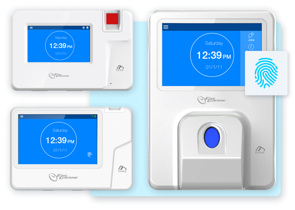Easy Clocking Xenio 200, Xenio 500 and Xenio 700 Fingerprint Clocks