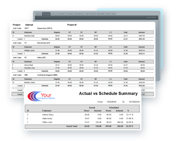 EasyClocking Time & Attendance Report Example