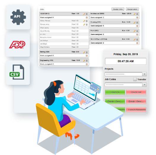 EasyClocking Time & Attendance Software Graphic