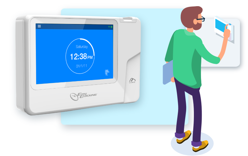 time tracking fingerprint time clocks